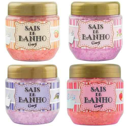 Kit 5 Sais De Banho Espumante Banheira Aromático 150g Garji