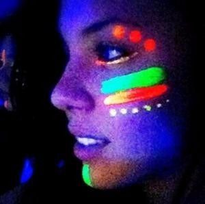 Tinta Líquida Fluorescente 6 Cores Cítricas Neon Facial Color Make