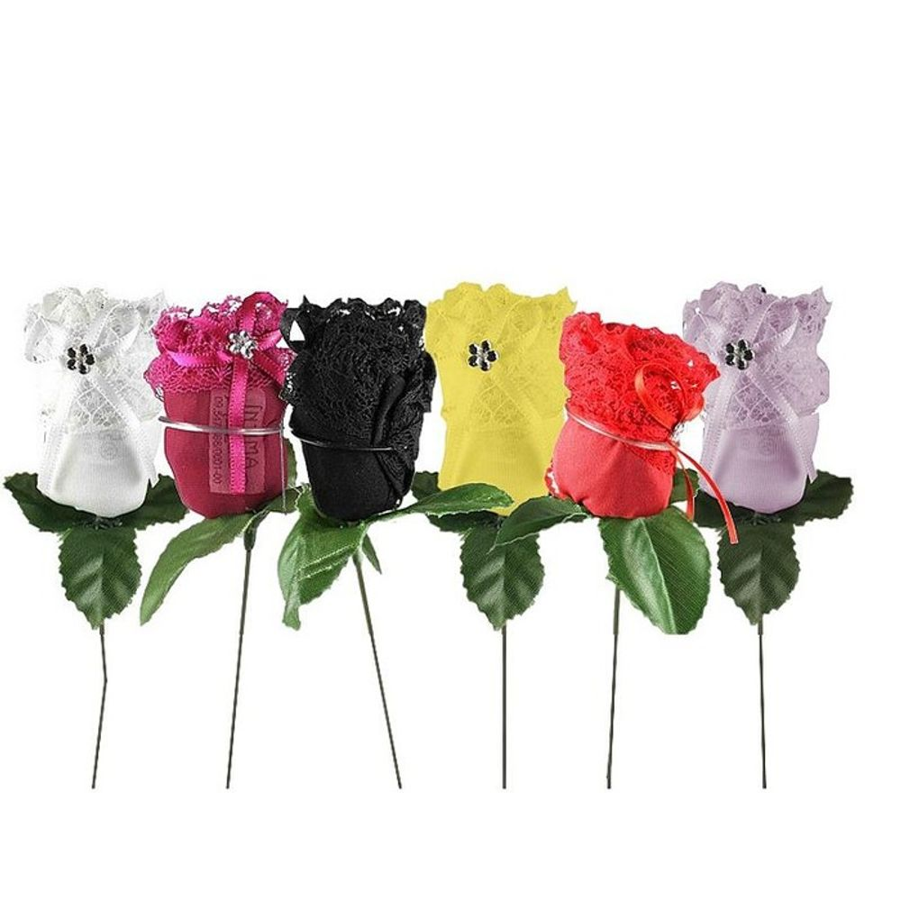 30 Calcinhas Fio dental em Formato de rosas Cores variadas Íntima Delas Atacado