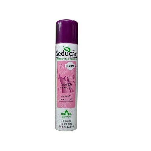 Desodorantes Íntimos Spray Sedução Kit 5 unid. 100ml Dokmos Atacado