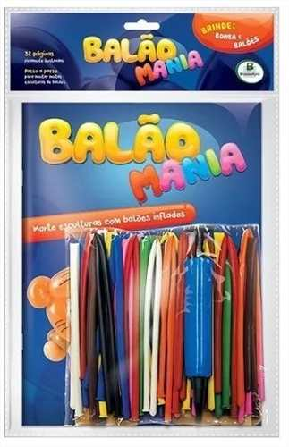 Kit Bexiga Balão Mania + Bomba P/ Encher + livro
