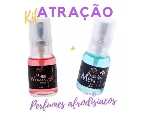Kit Ele e Ela Perfumes Afrodisíacos Pher Woman E Pher Men 20ml Soft Love
