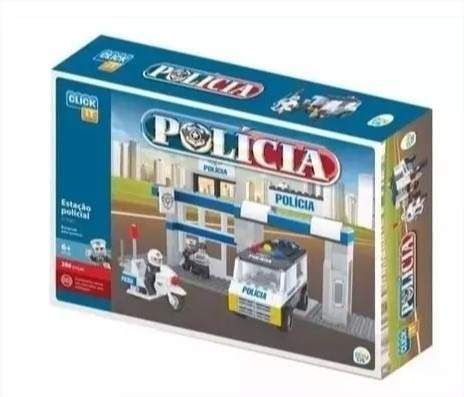 Estação Policial 286 Peças Blocos de Montar Click It