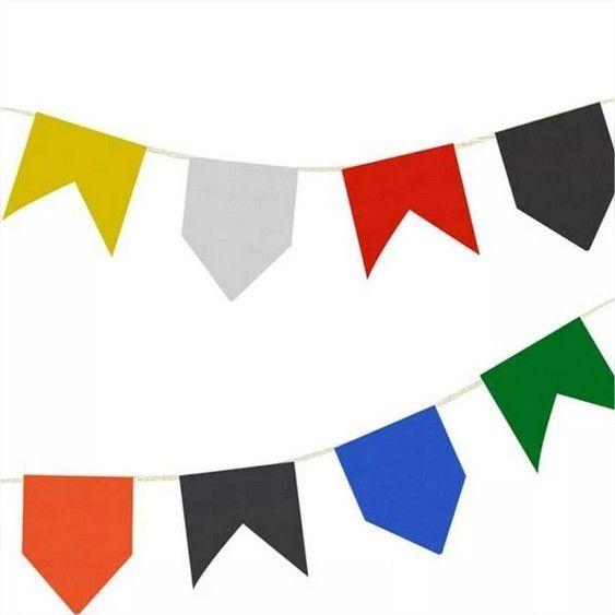 400 Metros de Bandeirinha de Papel de Seda Colorido Festa Junina