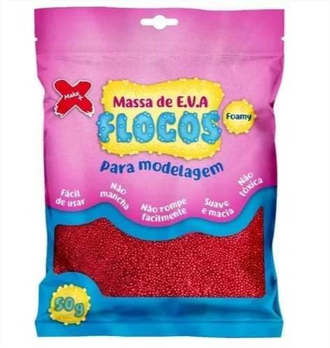 Massa De Eva Flocos 50g Kit Com 20 Pacotes Make Mais