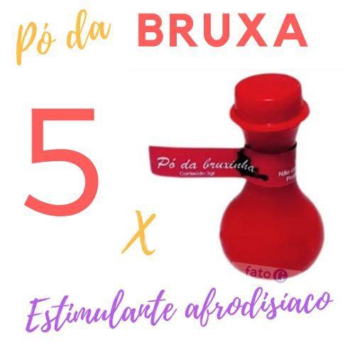 Kit 5 Energético Em Pó Mágico Da Bruxinha 2 Grs