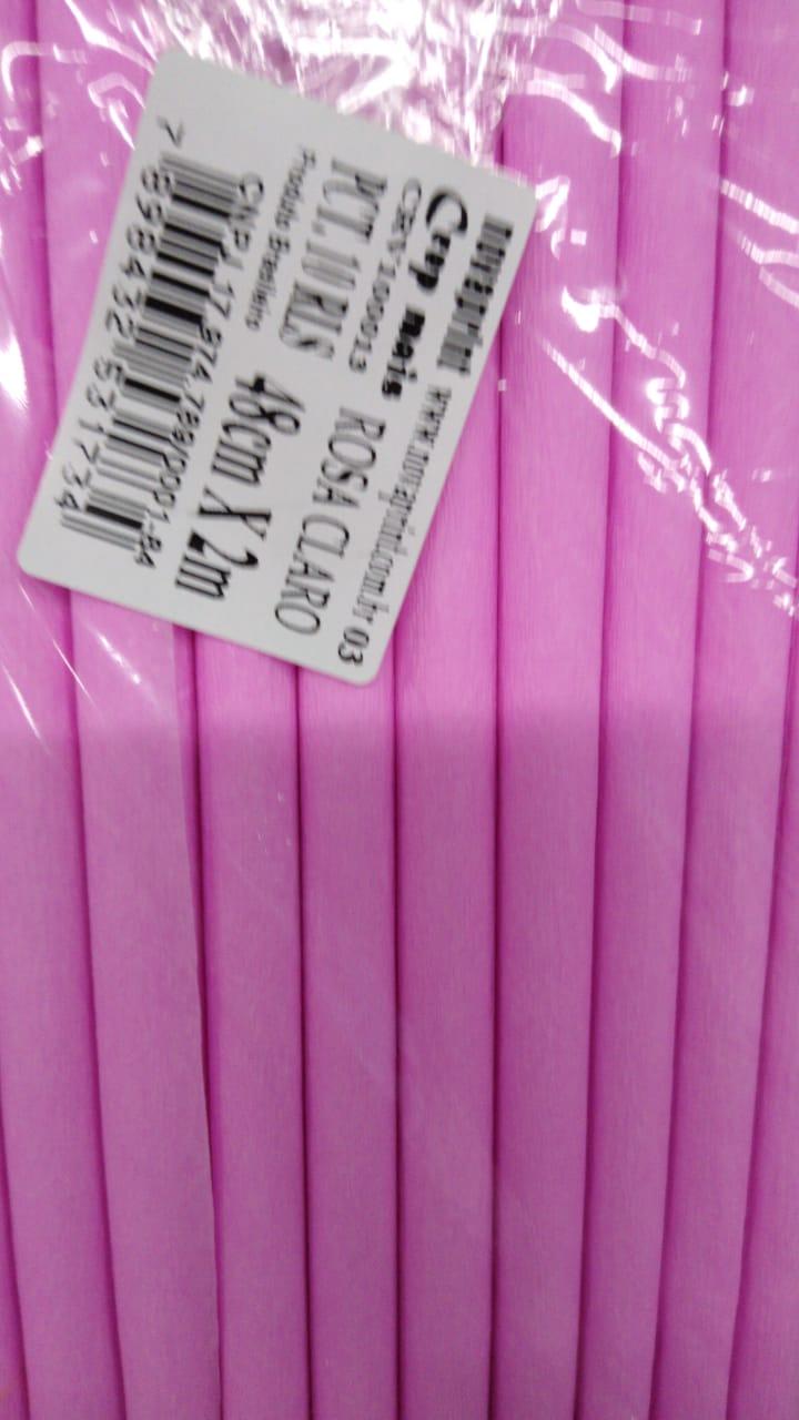 50 Papel Crepom Comum 48cmX2m - Escolha A Cor oferta - Nova Print