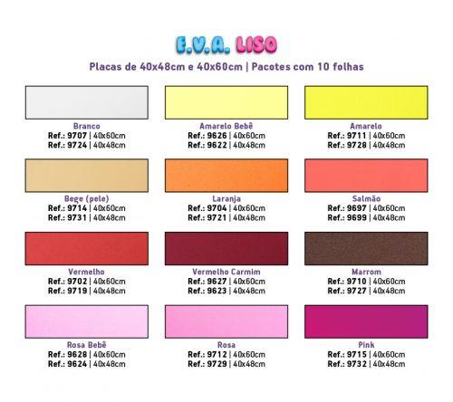 50 Placas de Eva Liso 40x48cm Artesanato 5 Pacotes Make Mais