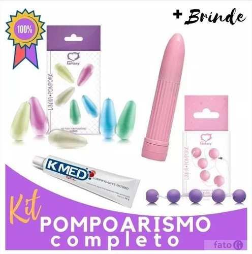 Kit De Pompoarismo Cones + bolinhas + Vibro + Lubrificante