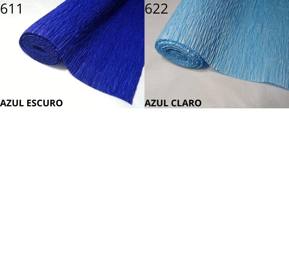 5 Papel Crepom Italiano Super Crepe 48cm X 2,5 Metros - Escolha Cor Realce