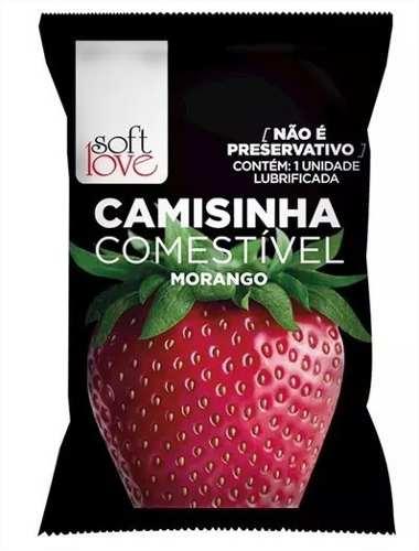 Kit 7 Camisinhas Comestível Aromática Solúvel Soft Love