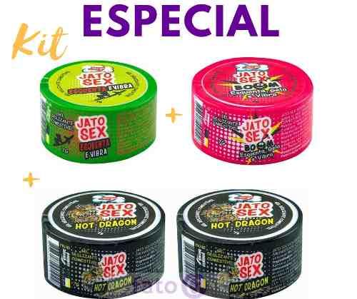 Kit4 Jato Sex pomada Várias Sensações Comestível Pepper Blend