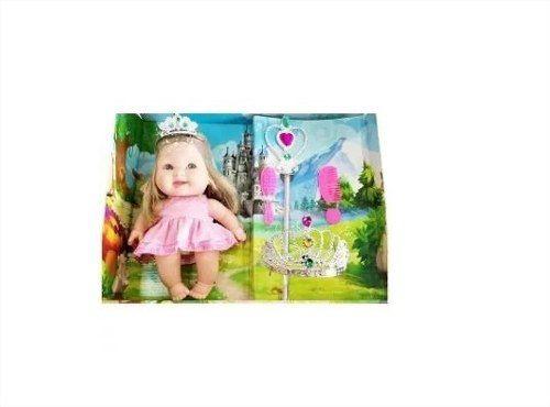 Boneca Infantil Bee Baby Princesa C/ Acessórios - Bee Toys
