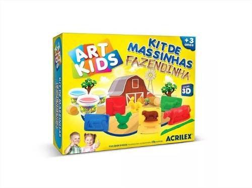 Massinha De Modelar Fazendinha de Bichinhos Art Kids Acrilex