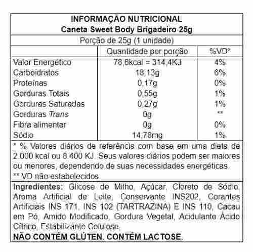 Kit 10 unidades Caneta Comestível Sweet Vários Sabores 25g Sexy Fantasy