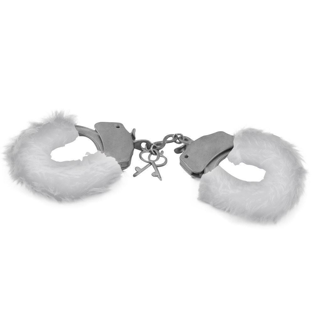 Algema de Metal 1unid com pelúcia Várias Cores Hand Cuffs Importação