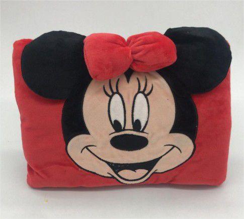 Almofada Com Compartimento Para Bolsa Térmica e Mãos Minnie Mouse