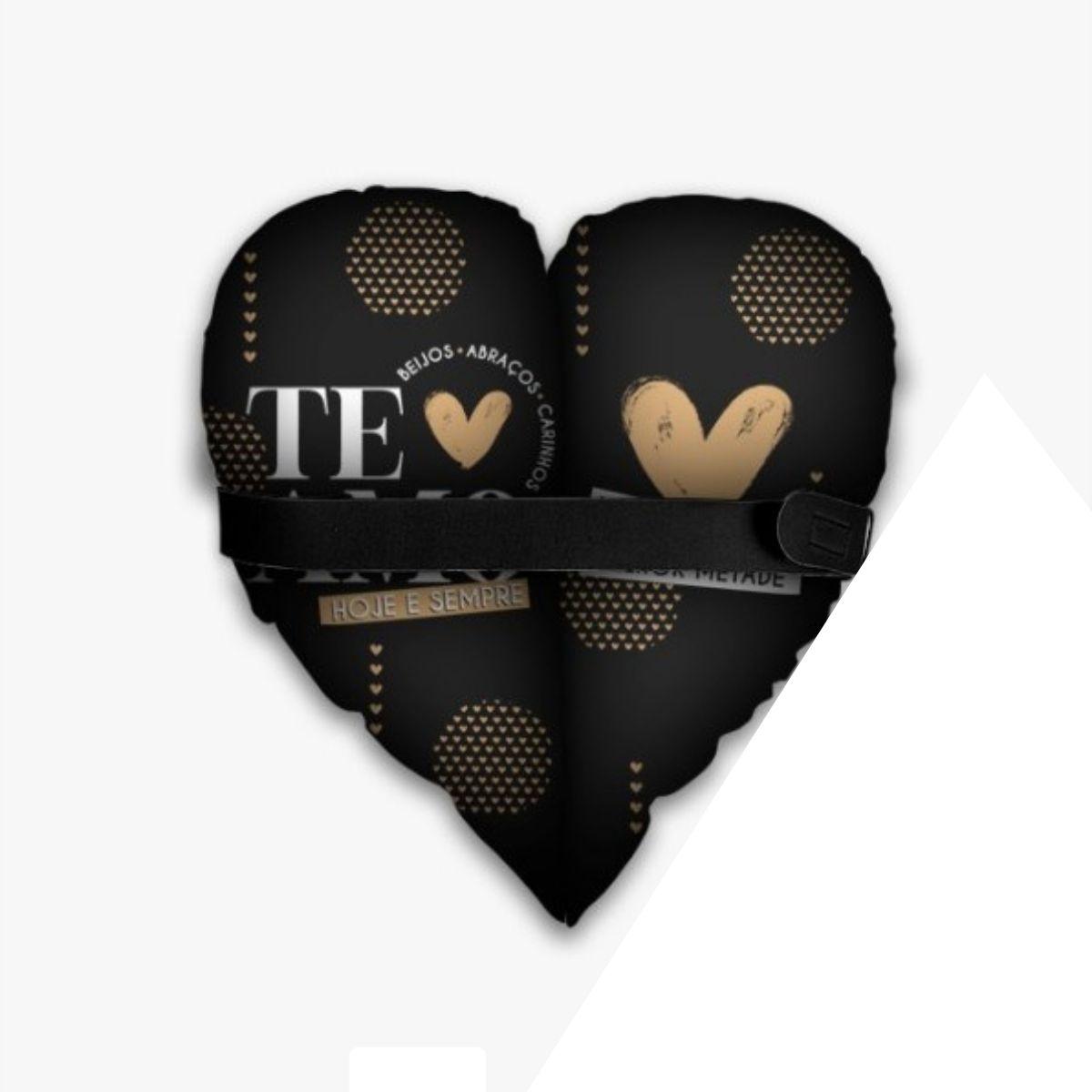 Almofada Coração Partido - Te Amo Hoje e Sempre Presente Namorados Brasfoot