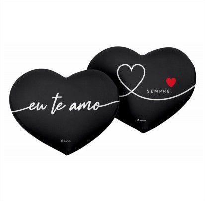 Almofada Recorte Coração Te Amo Sempre 35x46cm Presente Namorados Brasfoot