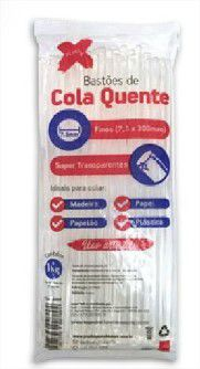 Bastão de Cola Quente Fino Super Transparente 1Kg Make Mais