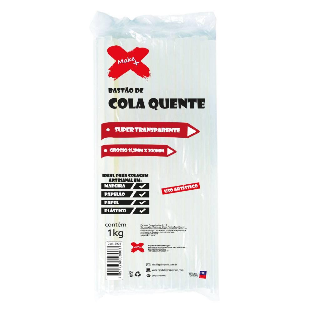 Bastão de Cola Quente Grosso Super Transparente 1Kg Make Mais