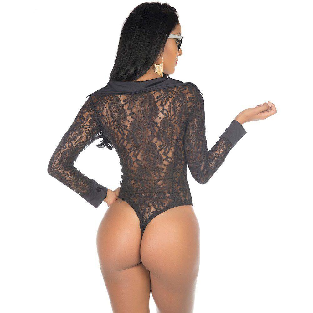 Body Sensual Executiva Preto Pimenta Sexy