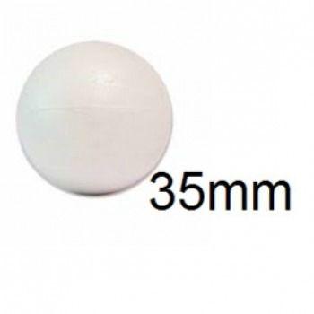 Bola de Isopor 3,5cm (35mm) Pacote com 100 Unidades Styroform