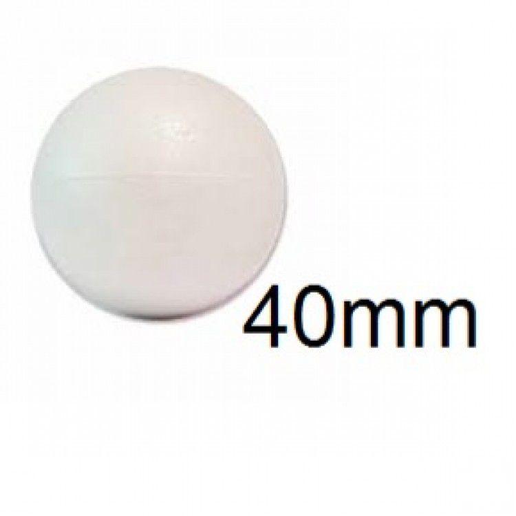 Bola de Isopor 4cm (40mm) Pacote com 40 Unidades Styroform