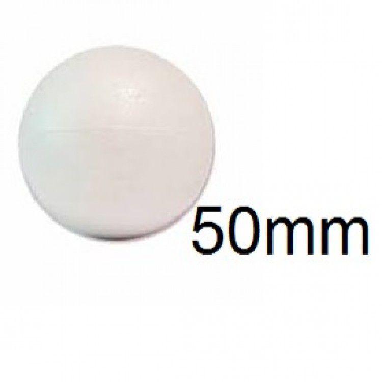 Bola de Isopor 5cm (50mm) Pacote com 50 Unidades Styroform