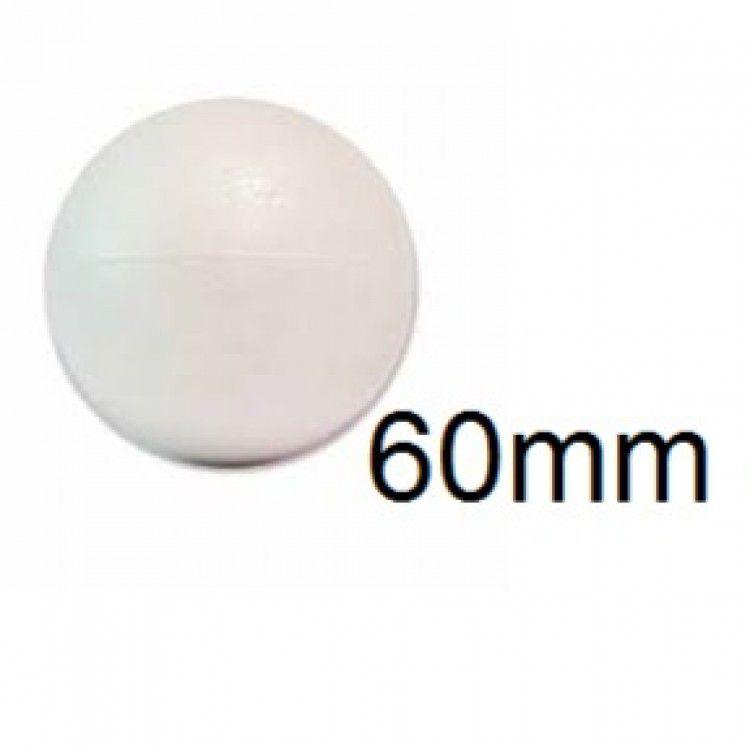 Bola de Isopor 6cm (60mm) Pacote com 30 Unidades Styroform