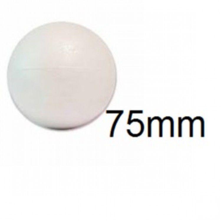 Bola de Isopor 7,5cm (75mm) Pacote com 25 Unidades Styroform