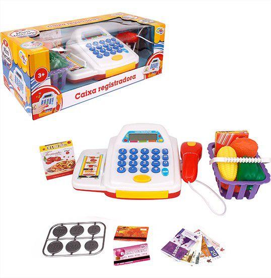 Caixa Registradora Infantil Com Acessórios Som e Luz Wellmix