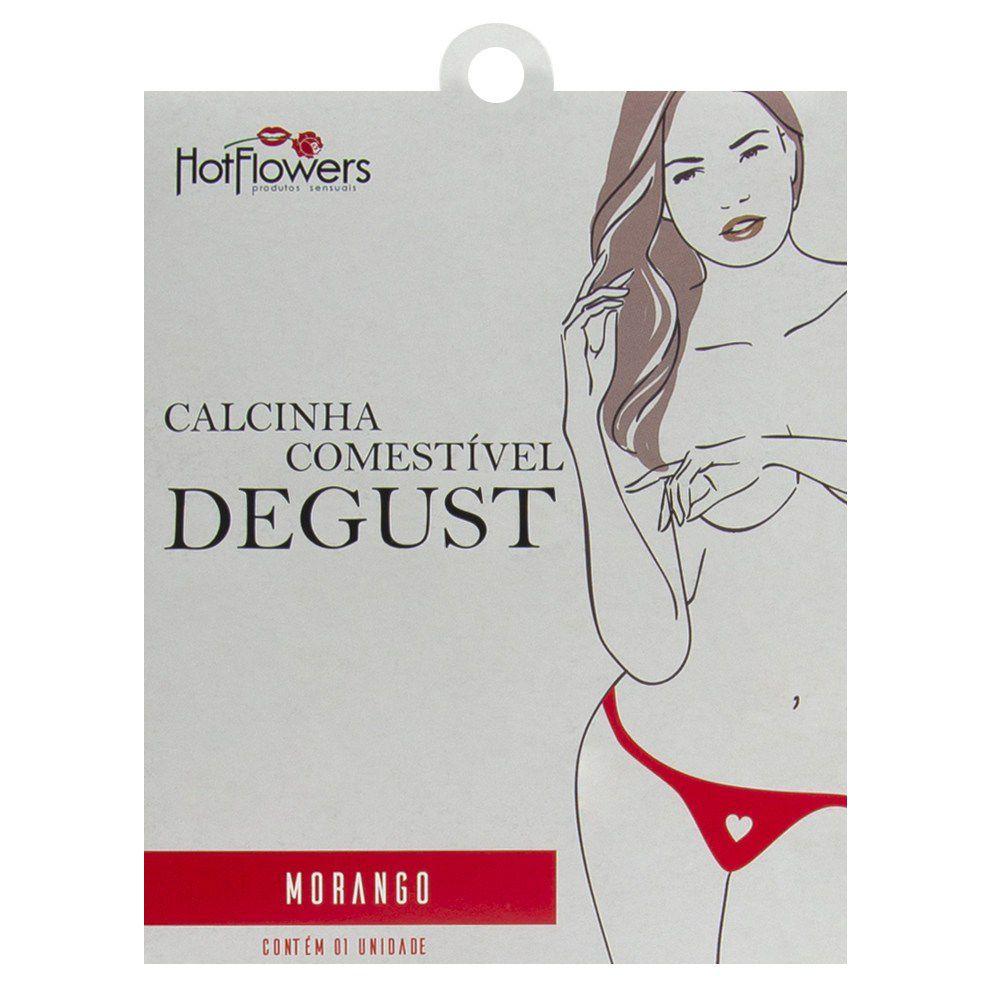 Calcinha Lingerie Comestível Degust Gourmet sabores variados Hot Flowers