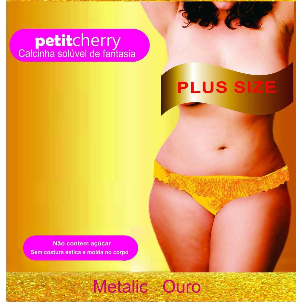 Calcinha Plus Size Comestível Metalic Sabores Kit 2 unidades Caminhos do Amor