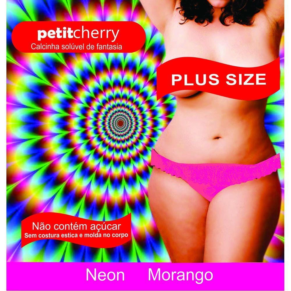 Calcinha Plus Size Comestível Neon Sabores Kit 5 unidade Caminhos do Amor