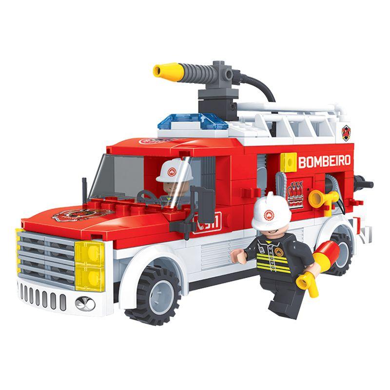 Caminhão De Bombeiro Blocos De Montar Tipo Lego Click It Play Cis