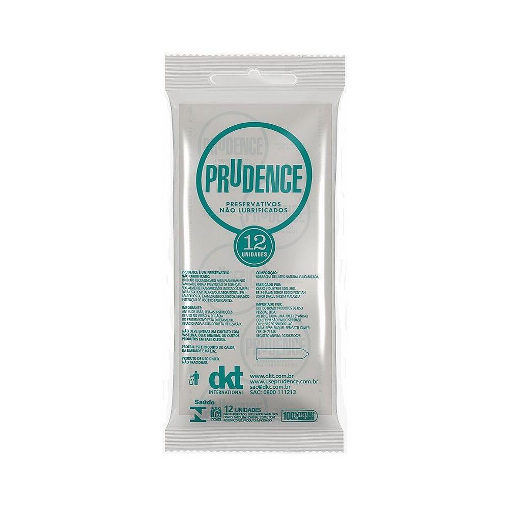 Camisinha Não Lubrificada Preservativo 1 pacote com 12 unid Prudence