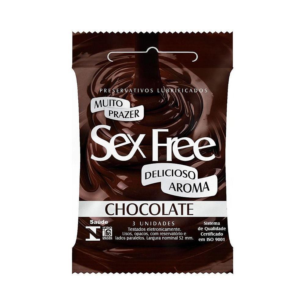 Camisinha Sabores e Aroma Preservativo Sex Free kit com 6 pacotes