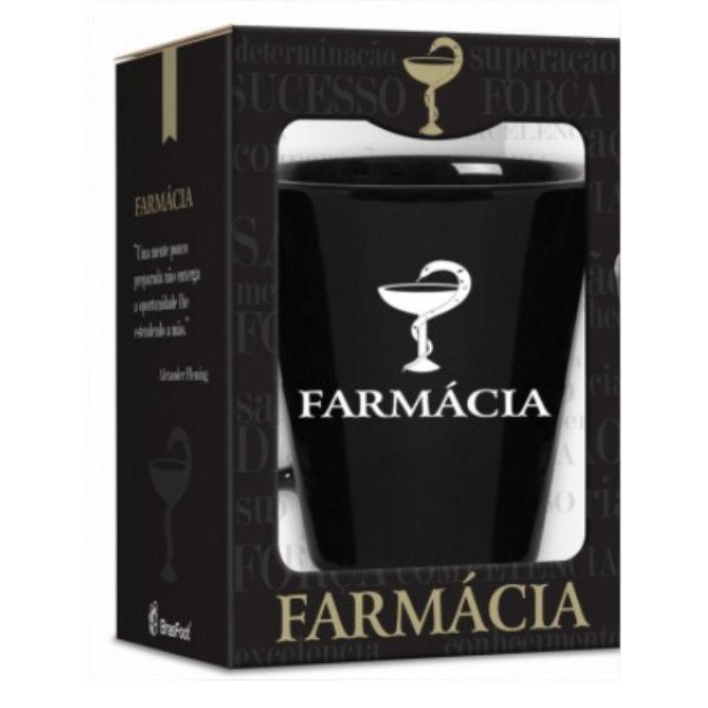 Caneca Ceramica 360ml na caixa - Curso Farmacia Brasfoot