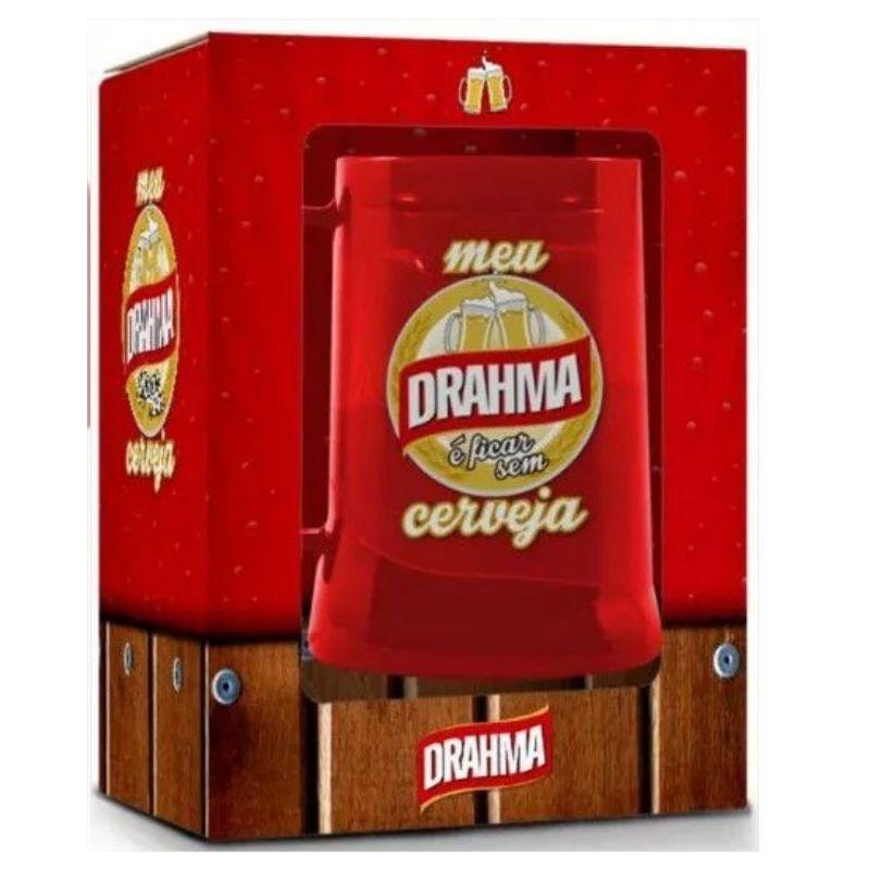 Caneca Chopp Com Gel Congelante Drahma Sátiras Cervejas Nacionais Brasfoot
