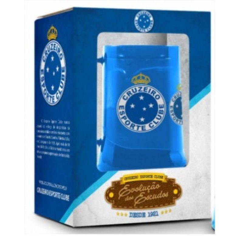 Caneca Gel Congelante 450ml Cruzeiro Time Evolução Escudos Presente Brasfoot