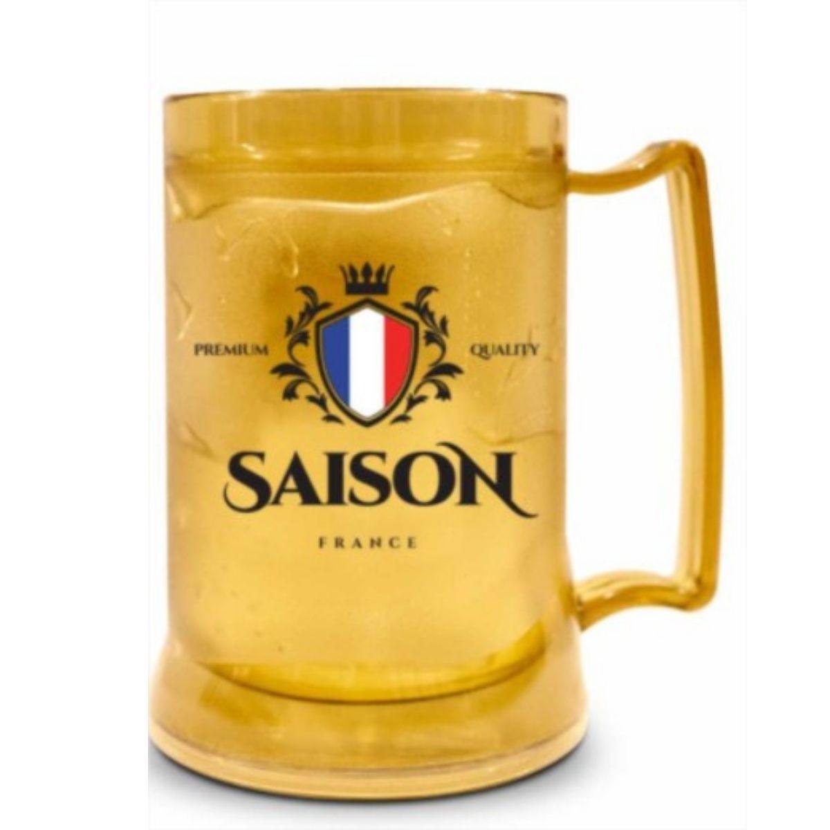 Caneca Gel Congelante Cerveja Saison França 300ml Brasfoot