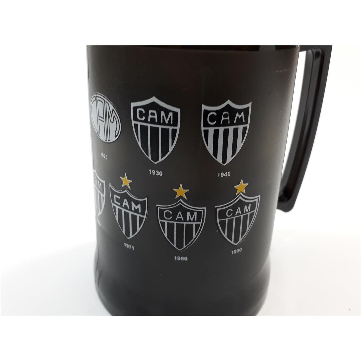 Caneca Gel Congelante Oficial Térmica Atlético Mineiro Evolução dos Escudos Brasfoot