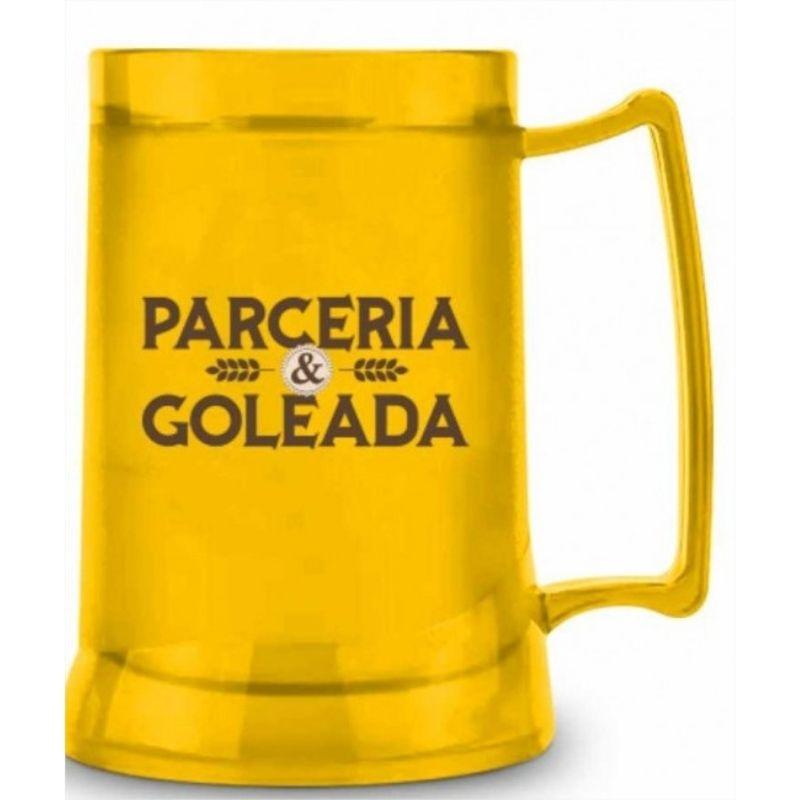 Caneca Gel Congelante Temas Futebol e Cerveja 300ml Brasfoot