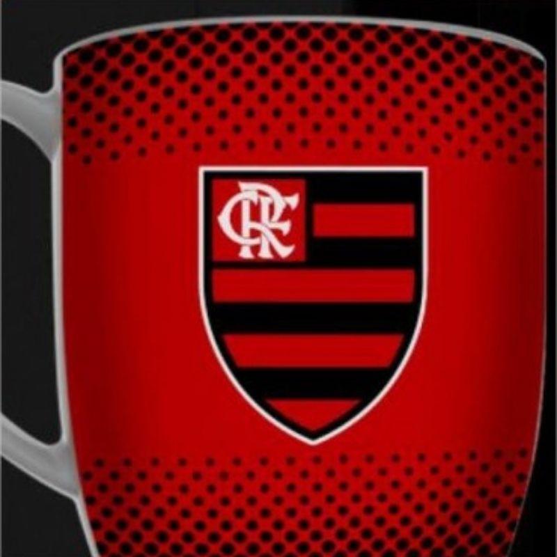 Caneca Porcelana Urban 360ml na caixa - Flamengo Brasfoot