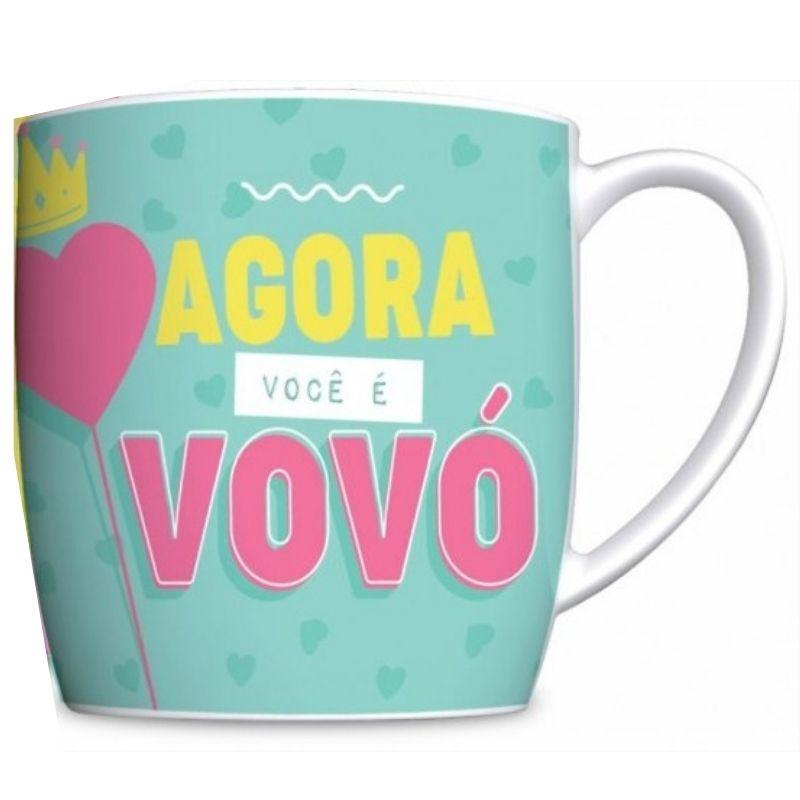 Caneca Porcelana Urban 360ml na caixa - Promovida a Vovó Brasfoot