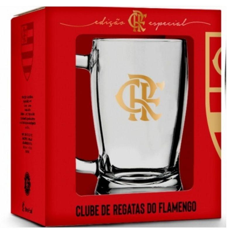 Caneca Taberna de Chopp Flamengo Serie Ouro 340ml Brasfoot