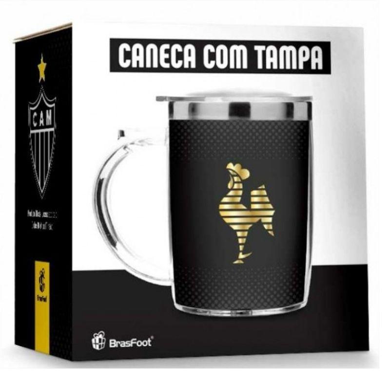 Caneca Termica Com Tampa Atletico Mineiro Galo 450ml Presente Brasfoot