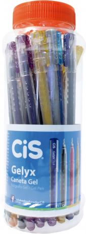Caneta Gel Gelyx 1.0mm cores Sortidas Sertic Pote 24 Unidades Cis