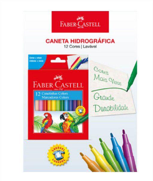 Caneta Hidrográfica 12 Cores Faber Castell